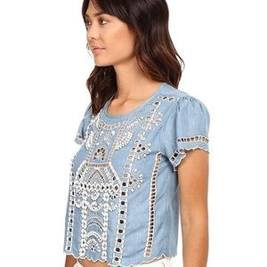 Lovers + Friends Chambray top